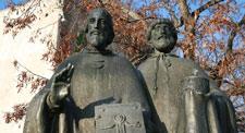 The Sts. Constantine – Cyril and Methodius Sculpture (source: www.nitra.eu)